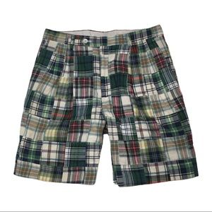 SH2 Berle Plaid Patchwork Preppy Golf Shorts 32